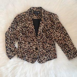 Forever 21 Cheetah Print Small Blazer / Jacket